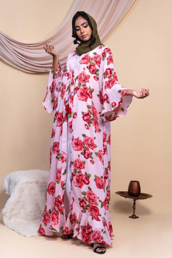 Colour Abaya Design - Rose Pink 6