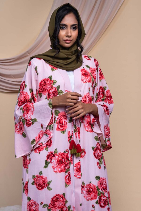 Colour Abaya Design - Rose Pink 4