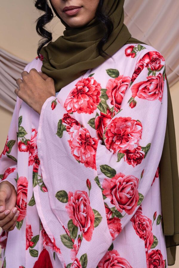 Colour Abaya Design - Rose Pink 2